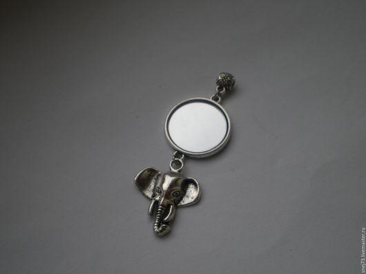 Кулон с зеркалом оберег от сглаза Слон