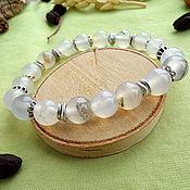Украшения handmade. Livemaster - original item Bracelet with white agate. Handmade.