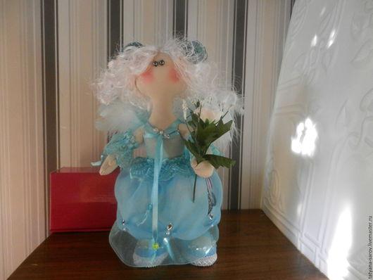 Коллекционные куклы ручной работы. Ярмарка Мастеров - ручная работа. Купить Голубой Ангел (Ручная работа ). Handmade. Голубой