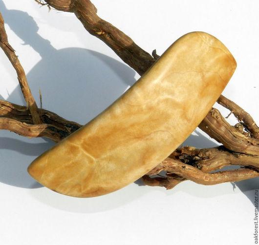 Заколки ручной работы. Ярмарка Мастеров - ручная работа. Купить Заколка - автомат из дерева (березовый кап). Handmade. Заколка из дерева