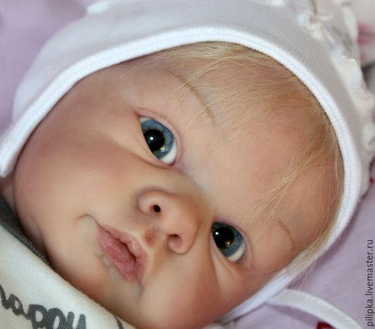 Куклы-младенцы и reborn ручной работы. Ярмарка Мастеров - ручная работа. Купить Голубоглазая малышка реборн. Handmade. Голубой, текстиль
