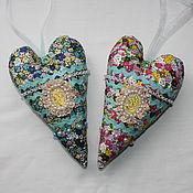Декор в стиле Тильда ручной работы. Ярмарка Мастеров - ручная работа Тильда сердце с камеей.. Handmade.