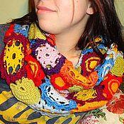 Аксессуары ручной работы. Ярмарка Мастеров - ручная работа Ажурный снуд крючком Тёплая радость. Handmade.