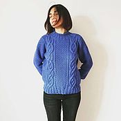 Одежда handmade. Livemaster - original item Knitted jumper, Natali sweater from Italian Merino. Handmade.