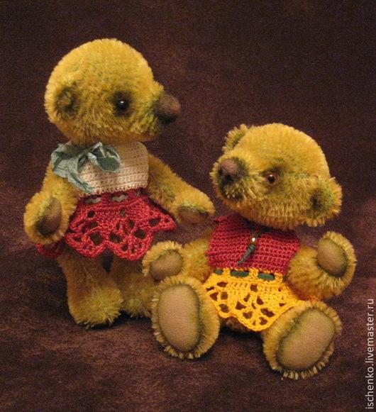 Мишки Тедди ручной работы. Ярмарка Мастеров - ручная работа. Купить Мишки Тина и Молли. Handmade. Салатовый, милый подарок