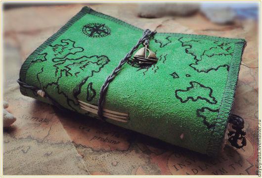 """Блокноты ручной работы. Ярмарка Мастеров - ручная работа. Купить """"Дыхание океана""""-эффектный блокнот-холдер ручной работы. Handmade."""