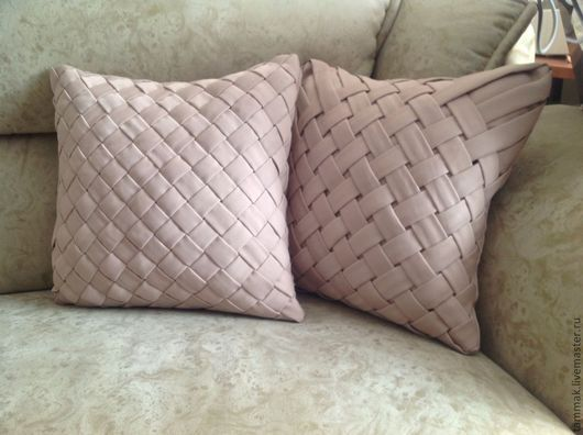 Текстиль, ковры ручной работы. Ярмарка Мастеров - ручная работа. Купить Подушки с плетением. Handmade. Подушка, подушка на диван, гостиная