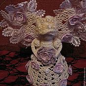 Куклы и игрушки ручной работы. Ярмарка Мастеров - ручная работа Вязаный ангел Вера. Handmade.
