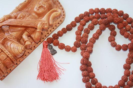 Четки ручной работы. Ярмарка Мастеров - ручная работа. Купить Четки из Рудракши (108 шт). Handmade. Рыжий, оберег