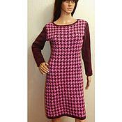 Одежда handmade. Livemaster - original item Dress knitted Goose feet. Handmade.