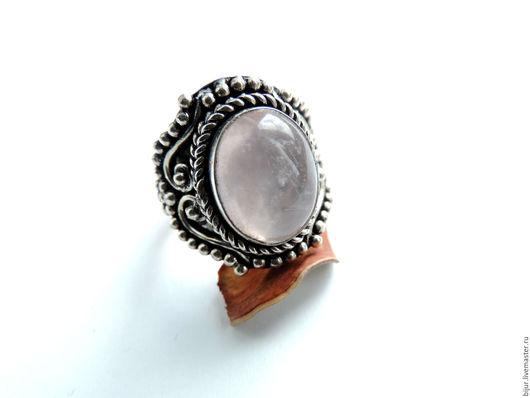 Кольца ручной работы. Ярмарка Мастеров - ручная работа. Купить 18,5 Крупное Кольцо с розовым кварцем. Handmade. украшения