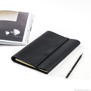 Stationery handmade. Livemaster - original item Leather notebook with rings stylish A5 Notepad made of genuine leather. Handmade.