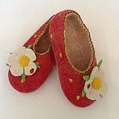 """Обувь ручной работы. Ярмарка Мастеров - ручная работа Тапочки """" Я ягодка"""". Handmade."""