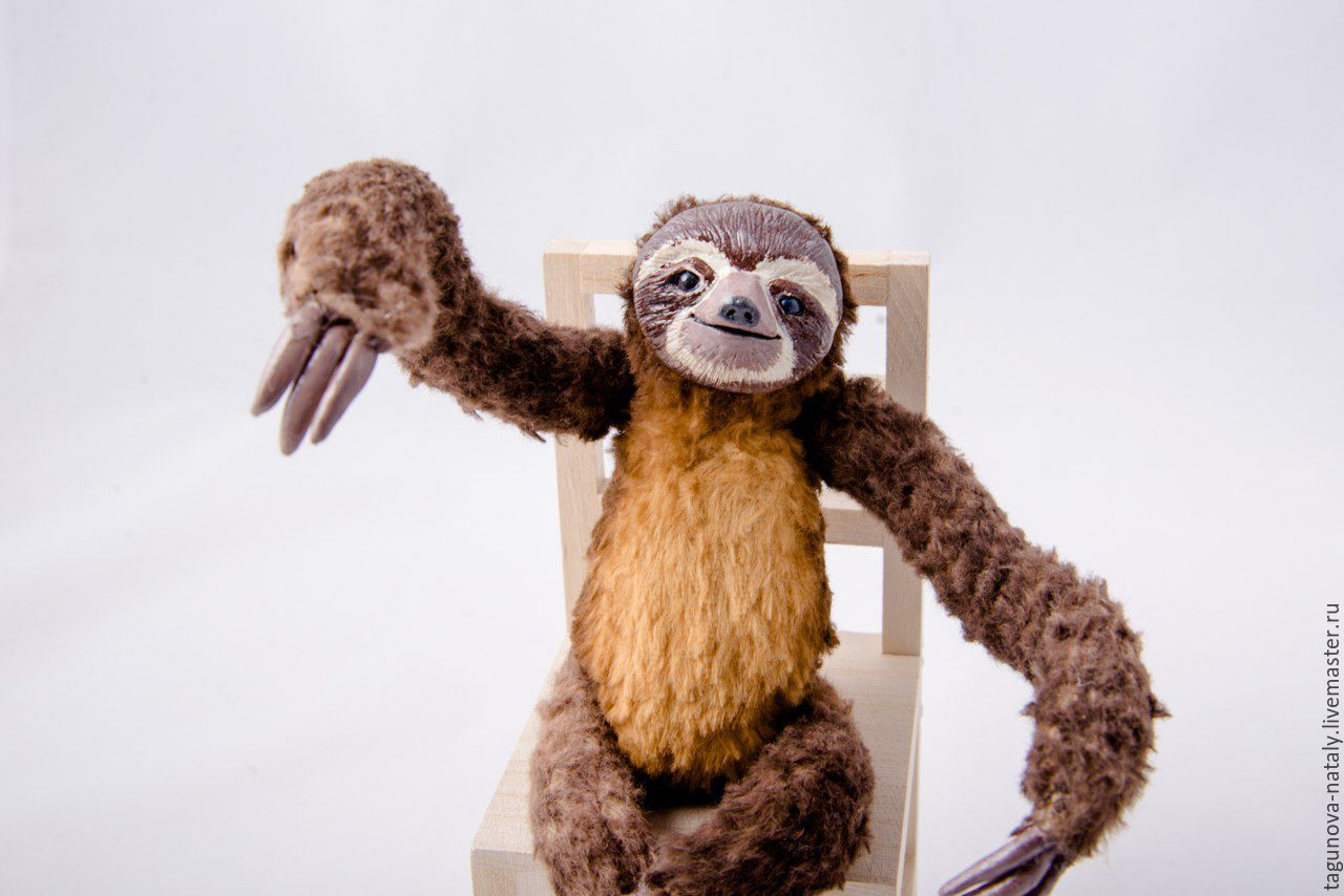 Игрушка ленивец своими руками фото 397