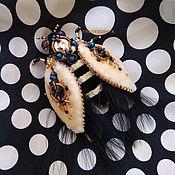 Брошь-булавка ручной работы. Ярмарка Мастеров - ручная работа Брошь-булавка: Бархатный жук. Handmade.