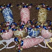 """Подарки к праздникам ручной работы. Ярмарка Мастеров - ручная работа """"Волшебные шишки"""" набор елочных шаров. Handmade."""
