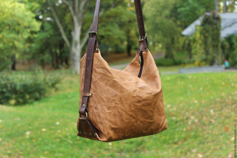 bag genuine leather 'wrinkled-crinkled', Classic Bag, St. Petersburg,  Фото №1