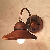 Для дома и интерьера handmade. Livemaster - original item Ceramic lamp on the wall