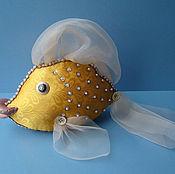 Куклы и игрушки ручной работы. Ярмарка Мастеров - ручная работа Золотая Рыбка Малая.. Handmade.