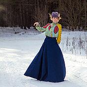 Одежда ручной работы. Ярмарка Мастеров - ручная работа Джинсовая длинная юбка. Handmade.