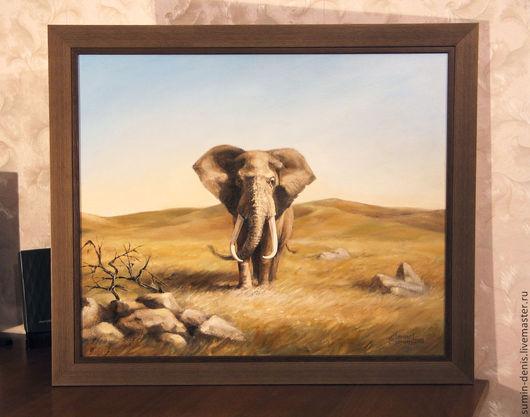 Животные ручной работы. Ярмарка Мастеров - ручная работа. Купить Африканский слон. Handmade. Оливковый, африканский слон, степь