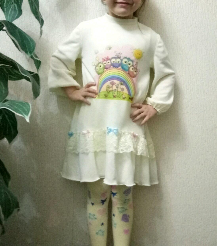 Платье для девочки ,, Сливочное мороженое,,