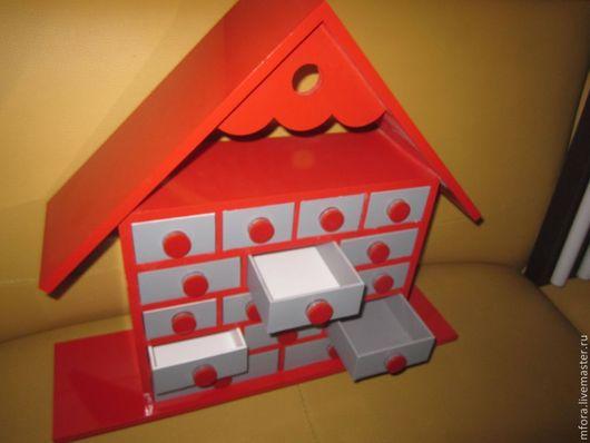 """Органайзеры для рукоделия ручной работы. Ярмарка Мастеров - ручная работа. Купить """" Домик для мелочей"""" (оригинальный контейнер для хранения). Handmade."""