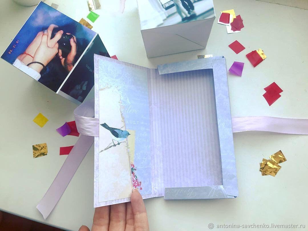 Выпрыгивающая открытка куб, открытки природы открытки