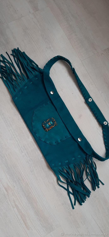 Поясные сумки ручной работы. Ярмарка Мастеров - ручная работа. Купить Сумки: Экспрессивная. Handmade. Сумка замшевая, сумка на плечо