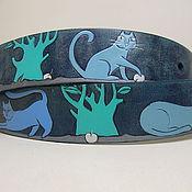 """Аксессуары ручной работы. Ярмарка Мастеров - ручная работа ремень кожаный """"Коты"""". Handmade."""