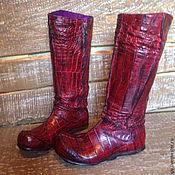 Обувь ручной работы. Ярмарка Мастеров - ручная работа Сапоги из кожи крокодила ЭТНО-ШИК. Handmade.