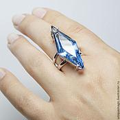 Украшения handmade. Livemaster - original item Ring with Topaz London blue. 925 sterling silver st.. Handmade.
