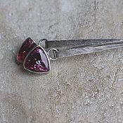 Украшения handmade. Livemaster - original item Earrings with tourmalines rubellites, silver. Handmade.