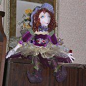 Куклы и игрушки ручной работы. Ярмарка Мастеров - ручная работа Фиалка (кукла текстильная). Handmade.