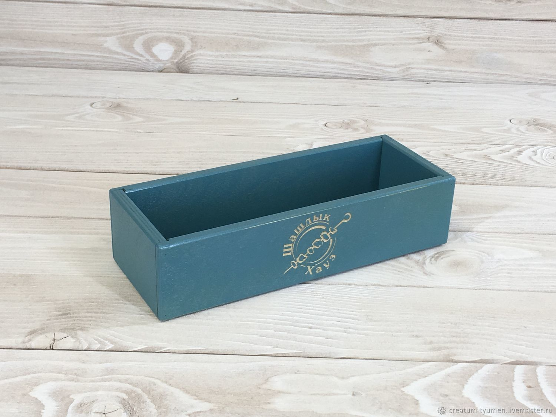 Универсальные коробочки из фанеры  под столовые приборы, Атрибутика, Тюмень,  Фото №1