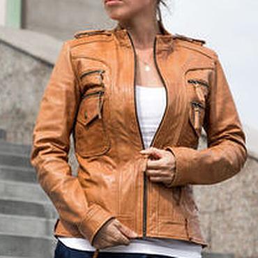 Одежда ручной работы. Ярмарка Мастеров - ручная работа Куртка из натуральной кожи (более 50 цветов). Handmade.