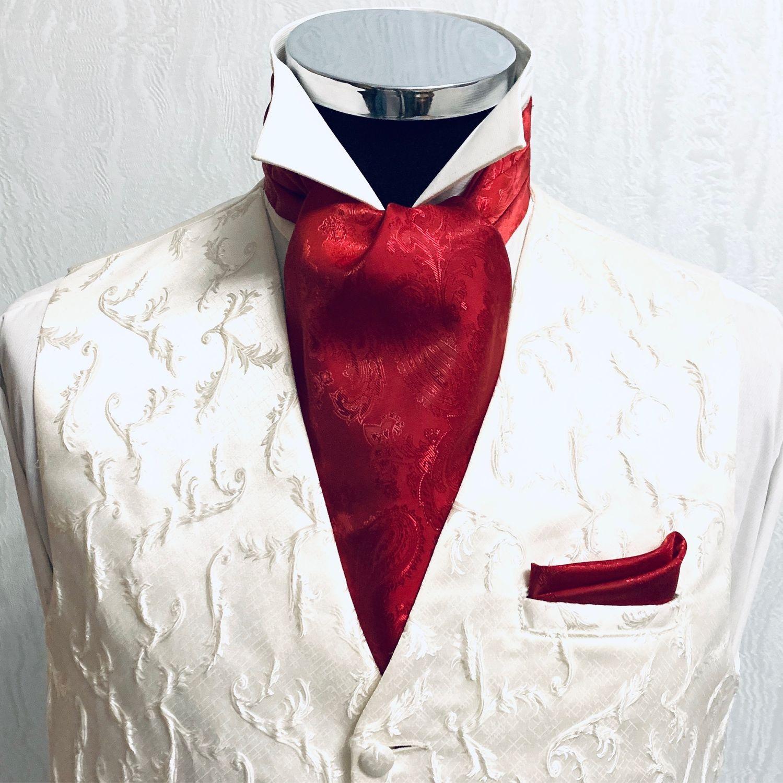 Шейный платок Аскот (галстук) Red, Галстуки, Москва,  Фото №1