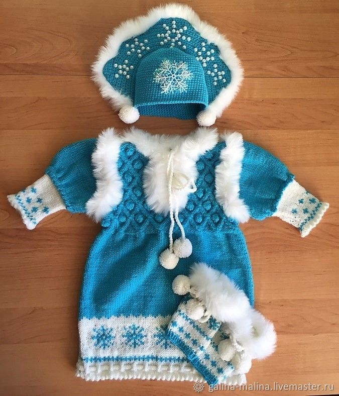 Clothes for Girls handmade. Livemaster - handmade. Buy Set of child's 'the snow maiden'. With headdress - cap, with gaiters.