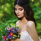 Украшения в прическу ручной работы. Ярмарка Мастеров - ручная работа Тика белый агат тикка для невесты. Handmade.