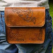 "Сумки и аксессуары handmade. Livemaster - original item Belt bag ""EAGLE"". Handmade."