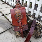 Сумки и аксессуары handmade. Livemaster - original item Hip bag made of genuine leather. Handmade.