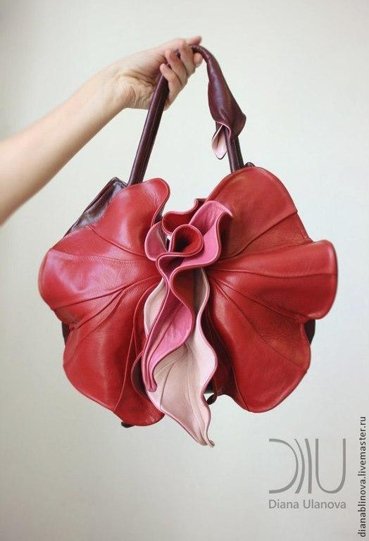 Женские сумки ручной работы. Ярмарка Мастеров - ручная работа. Купить Орхидея NEW красная. Handmade. Ярко-красный