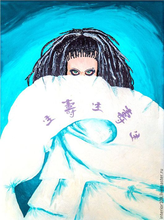 """Этно ручной работы. Ярмарка Мастеров - ручная работа. Купить Картина маслом ручной работы: """" Загадка"""". 60 х 80 см.. Handmade."""