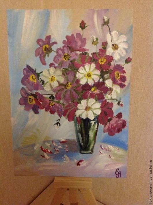 Картины цветов ручной работы. Ярмарка Мастеров - ручная работа. Купить Блуждающие ромашки. Handmade. Картина в подарок, картина для интерьера
