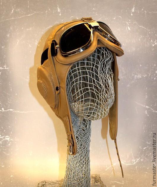 """Шапки ручной работы. Ярмарка Мастеров - ручная работа. Купить Шлем """"АВИАТОР"""". Handmade. Бежевый, летный шлем, флис"""