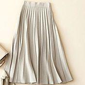 Одежда handmade. Livemaster - original item Pleated skirt made of cashmere. Handmade.