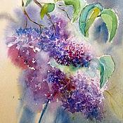 Картины и панно handmade. Livemaster - original item Watercolor. Painting watercolor. Branch of lilac.. Handmade.