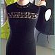 Платья ручной работы. Платье вязаное, маленькое черное платье. Анна Ру. Ярмарка Мастеров. Платье крючком