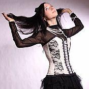 Одежда ручной работы. Ярмарка Мастеров - ручная работа Корсет Черно-белые грезы. Handmade.