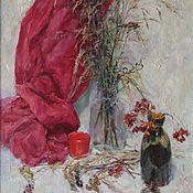 Картины ручной работы. Ярмарка Мастеров - ручная работа Натюрморт с красной чашкой. Handmade.